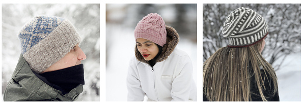 hats in the snow 1