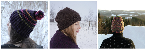 hats in the snow 2